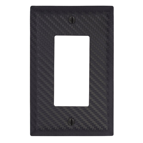 Carbon Fiber Black Steel - 1 Rocker Wallplate | 944RBK