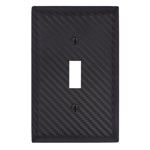 Carbon Fiber Black Steel - 1 Toggle Wallplate | 944TBK