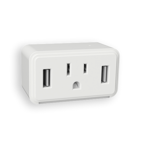 Cube Dual USB Outlet LED Night Light