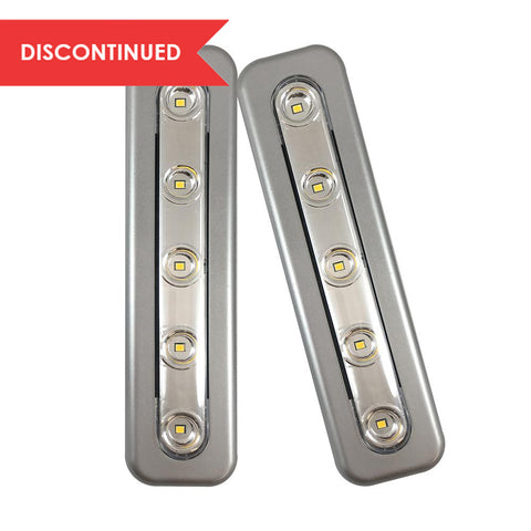 LED Mini Task Bars, Silver - 2 Pack | 71187CC