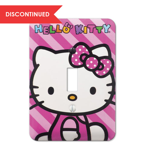 Hello Kitty Steel - 1 Toggle Wallplate | HK1502T