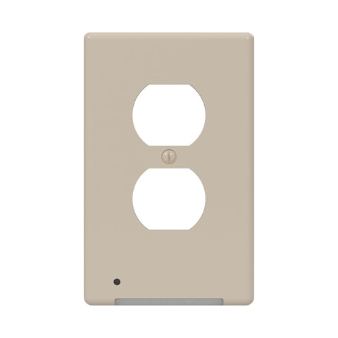 LumiCover Core Classic Nightlight Wallplate, Almond | LCR-CCDO-AL
