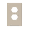 LumiCover Classic Duplex Nightlight Wallplate, Almond | LCR-CCDO-AL