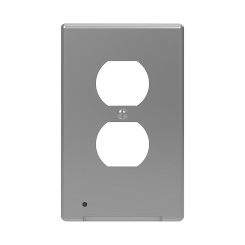 LumiCover Classic Duplex Nightlight Wallplate, Satin Nickel | LCR-CCDO-N