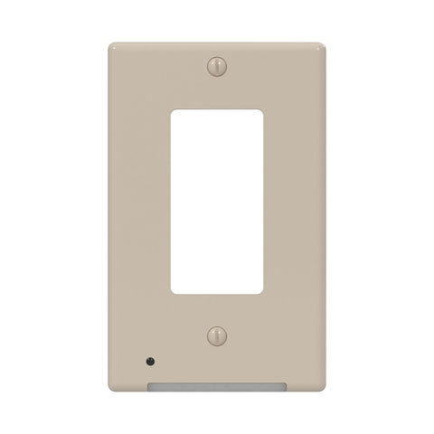LumiCover Classic Décor Nightlight Wallplate, Almond | LCR-CDDO-AL
