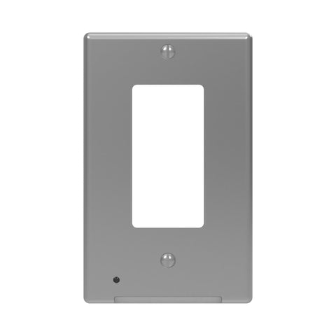 LumiCover Classic Décor Nightlight Wallplate, Satin Nickel | LCR-CDDO-N