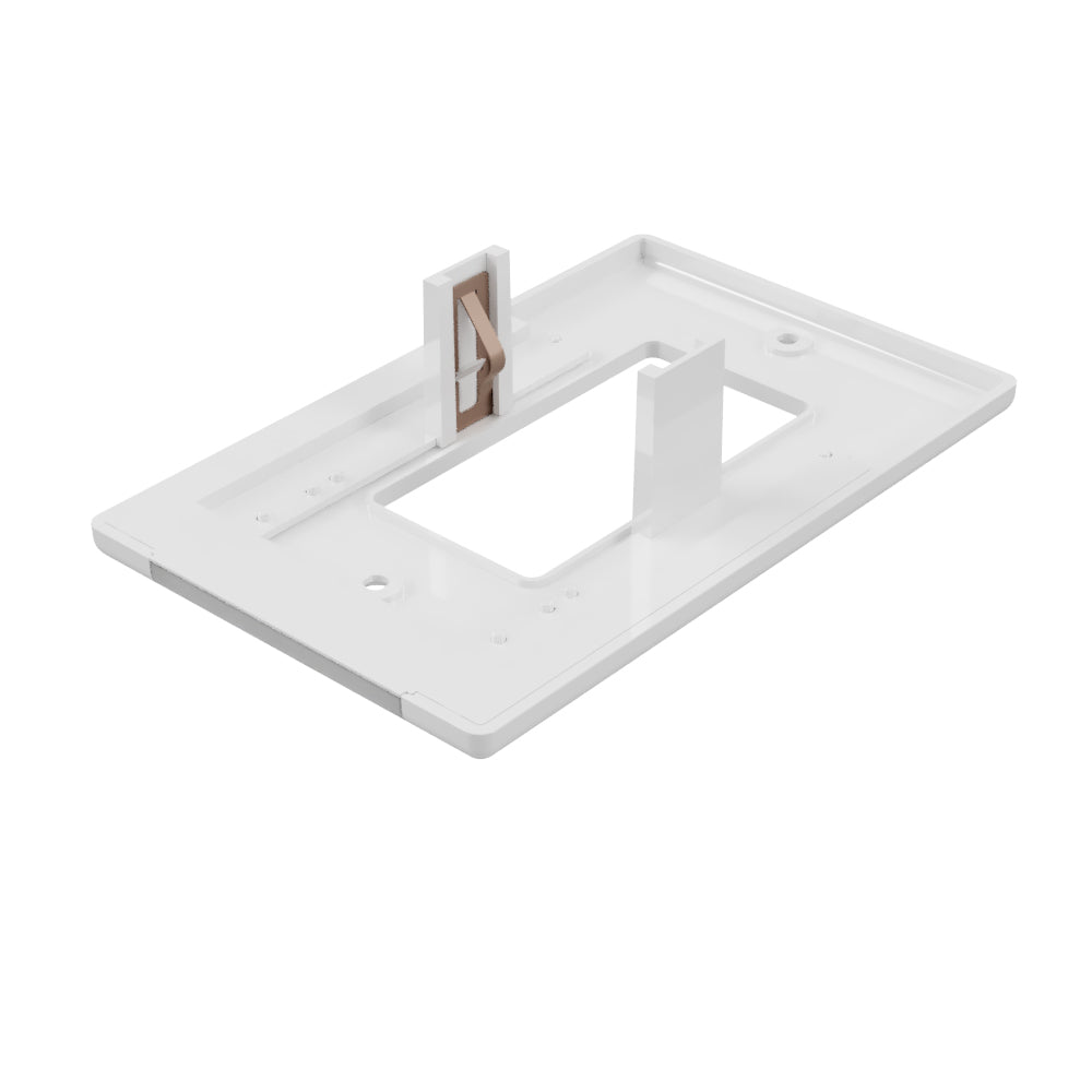 LumiCover Classic Décor Nightlight Wallplate, White | LCR-CDDO-W