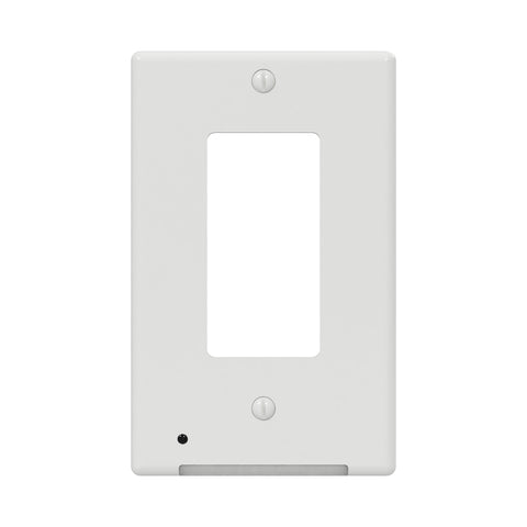 LumiCover Classic Rocker Nightlight Wallplate, White | LCR-CDDO-W