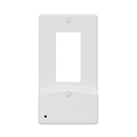 LumiCover Classic Décor USB Nightlight Wallplate, White | LCR-UDDO-W