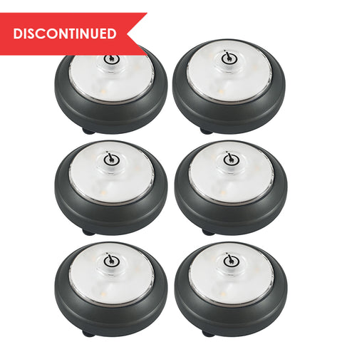 LED Swiveling Puck Light (6pk) - Gray | LPL626BX