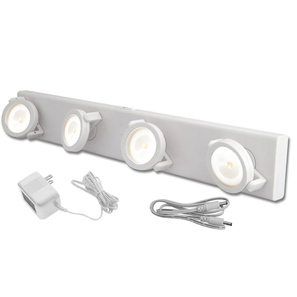 Led under cabinet track light w battery backup white amertac led under cabinet track light w battery backup white mozeypictures Image collections