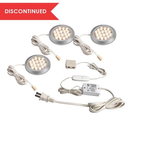 LED Dimming Under Cabinet Puck - Starter Kit (3pk) | LSPD32KBCC