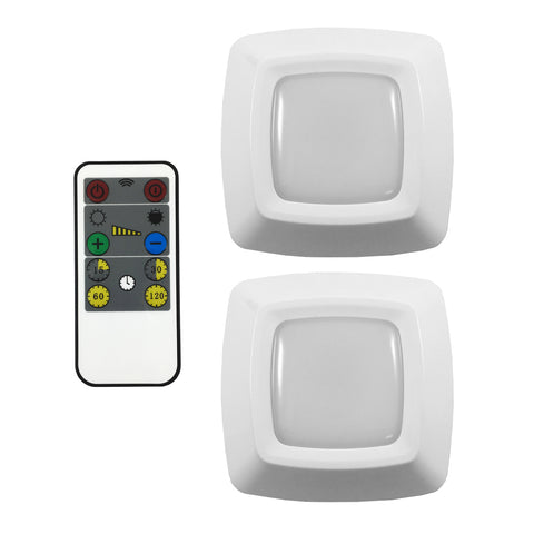LED Pucks with RF Remote Control - 2 Pack | LW2205W-N2