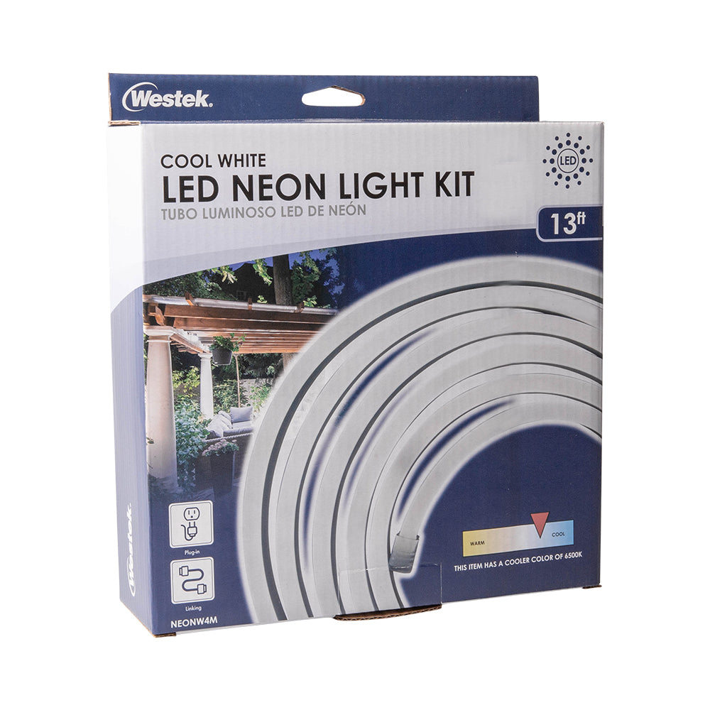 Indoor/Outdoor Neon LED Cool White Rope Light Kit 4M | NEONW4M