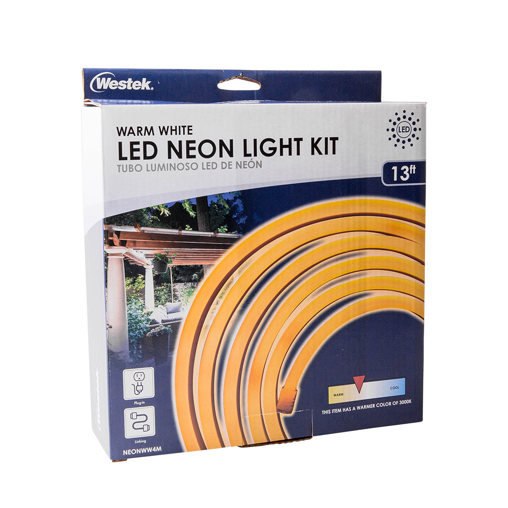 Indoor/Outdoor Neon LED Warm White Rope Light Kit 4M | NEONWW4M
