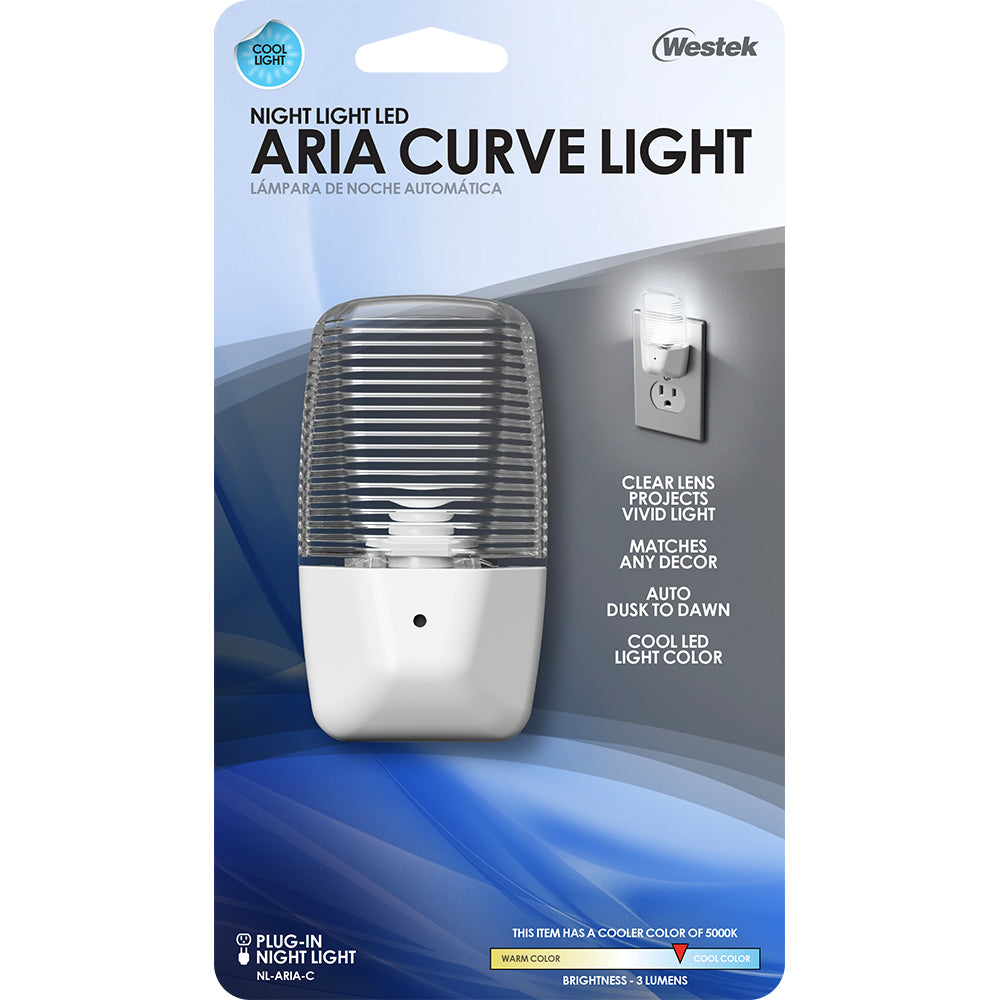 Aria LED Clear Night Light | NL-ARIA-C, NL-ARIA-C2, NL-ARIA-C4