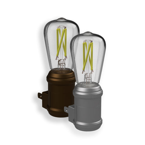Vintage Edison Filament LED Night Light | NL-EDSN-DB, NL-EDSN-DN