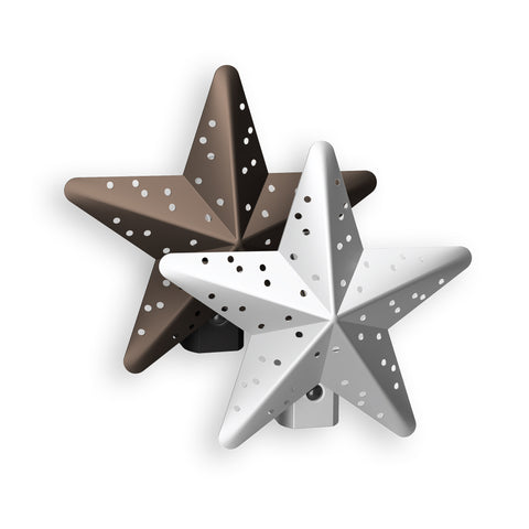 Tin Star Incandescent Night Light | NL-TNST-DB, NL-TNST-SL