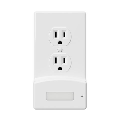 LumiCover Power Failure Nightlight Wallplate, White | LCR-PCDO-W
