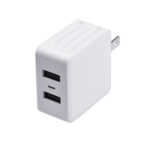 Dual USB Wall Charger, White | PM1002UW31