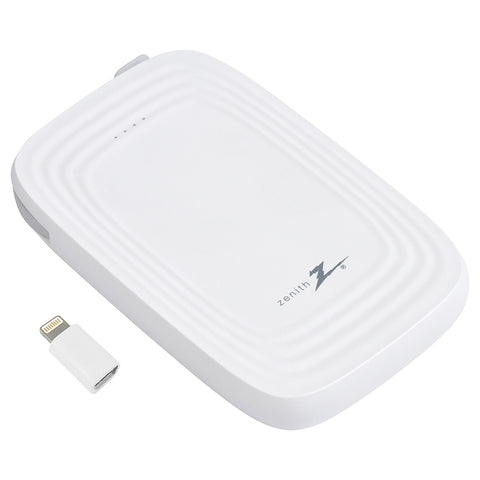 5000mAh Portable Charger, White | PM6000MPC