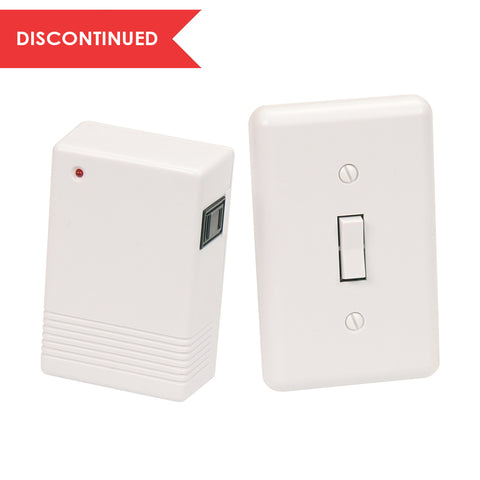 Indoor Wireless Wall Mounted Switch & Plug-In Receiver Kit | RFK100LC