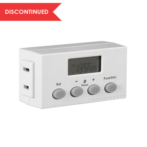 Indoor Weekly Digital Bar Timer 1-Outlet, Polarized | TE02DHBCC