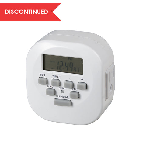 Indoor Weekly Digital Timer 2-Outlet, Grounded | TE06WHB