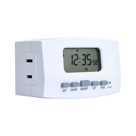 Indoor Weekly Digital Timer 2-Outlet Polarized | TE402WHB