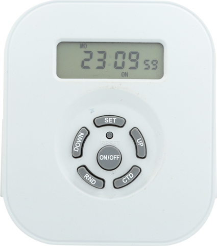Indoor Weekly Digital Round Timer 2-Outlet Grounded | TE1606WHB