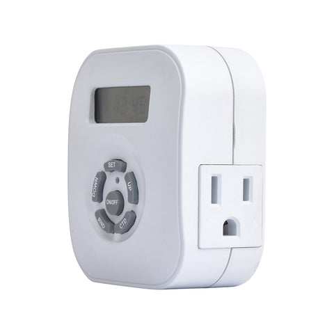Indoor Weekly Digital Round Timer 2-Outlet Grounded