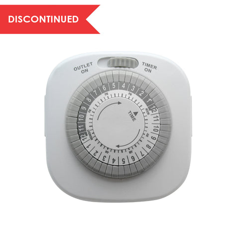 Indoor Daily Mechanical Timer 2-Outlet Grounded White | TM09DHB