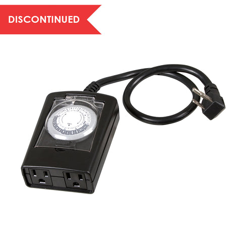 Outdoor Daily Mechanical Timer 2 - Outlet Gounded Black | TM13DOLB