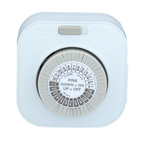 Indoor Mechanical Daily Timer 1-Outlet Polarized I TM1601