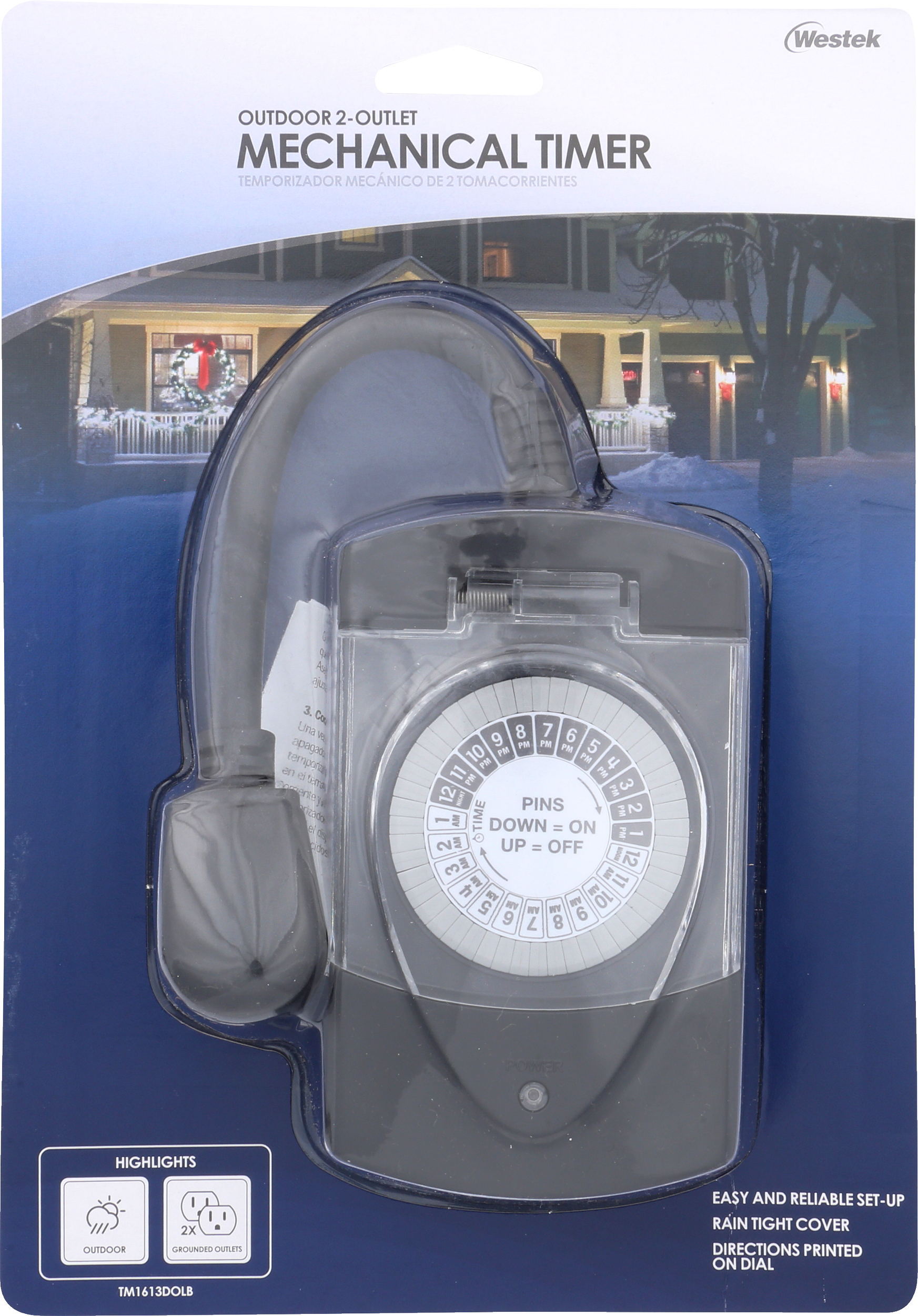 Outdoor Mechanical Timer 2-Outlet Grounded | TM1613
