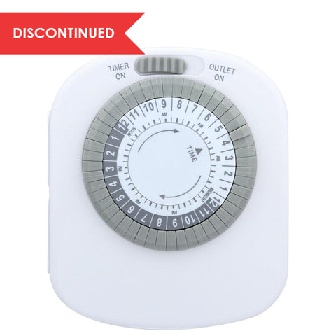Indoor Mechanical Daily Timer 4 - Outlet, Polarized, White