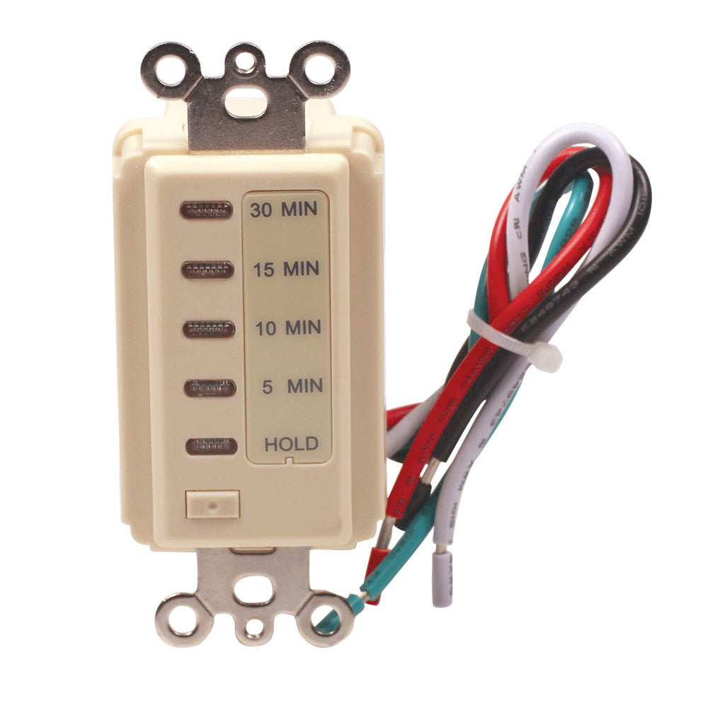 Indoor Wire In Electronic Countdown Timer 30 Minute Ivory Tmdcd30i Amertac