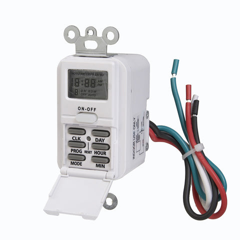 Indoor Wire-In Weekly Digital Wall Switch Timer, 120V | TMDW10
