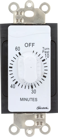 Indoor Wire-In Spring Wound Countdown Timers, White | TMSW15MW, TMSW30MW, TMSW60MW