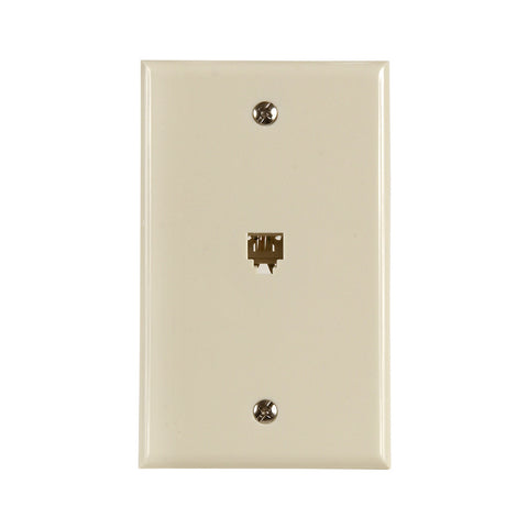 Flush Mount Telephone Wallplate, Almond | TW1001SA