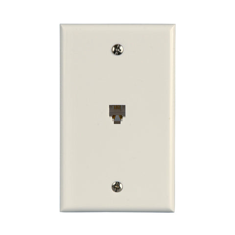 Flush Mount Telephone Wallplate, White | TW1001SW