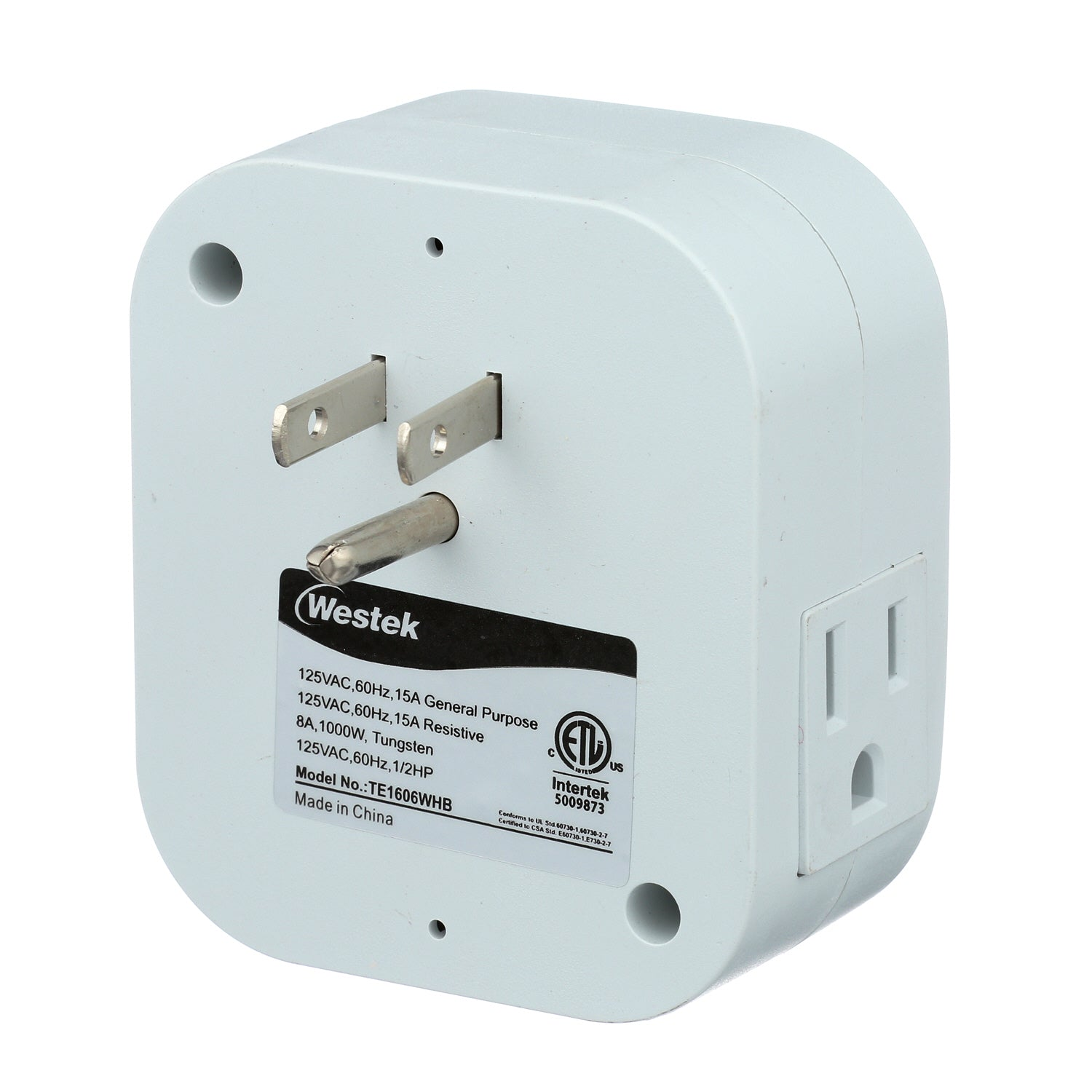 Indoor Weekly Digital Round Timer 2 Outlet Grounded Te1606 Amertac