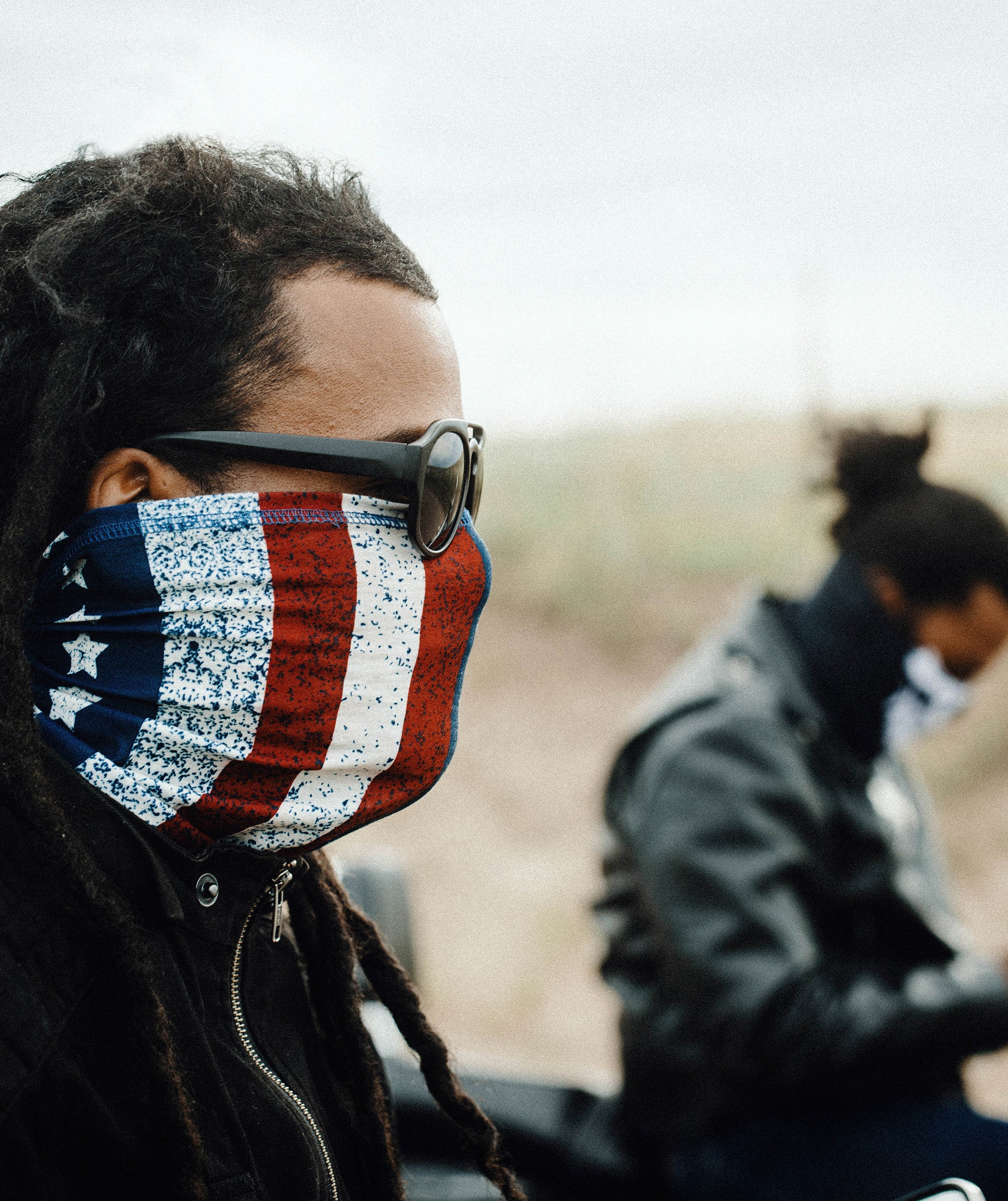 Old Glory Motorcycle Face Mask