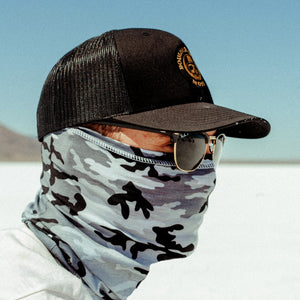 Snow Camo Motorcycle Face Mask