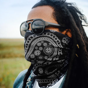 Paisley Motorcycle Face Mask