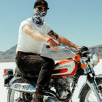 Load image into Gallery viewer, Snow Camo Motorcycle Face Mask