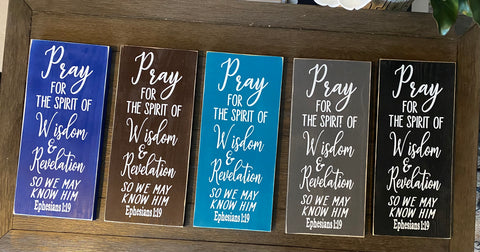 Ephesians 1:9, Scripture hand made wood sign