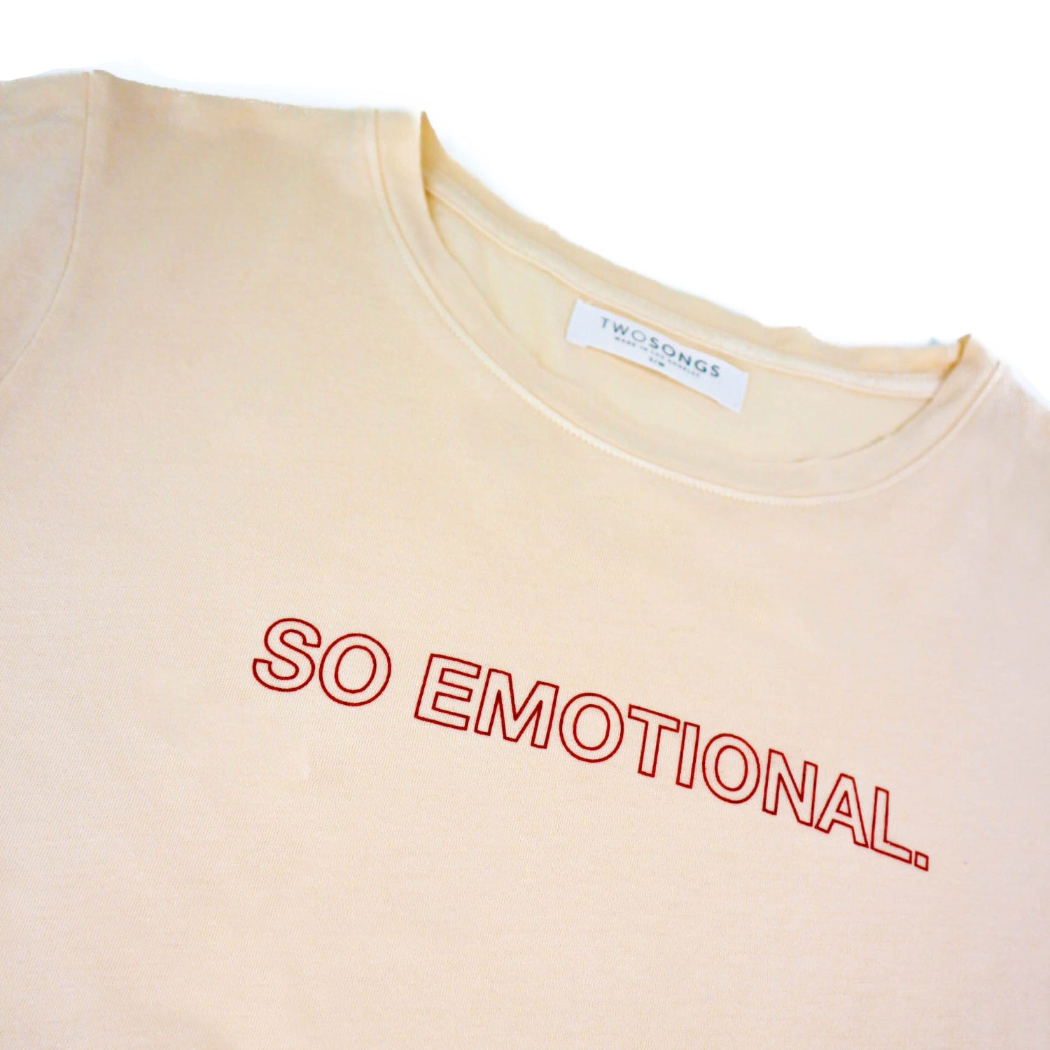 ** SO EMOTIONAL printed Tee