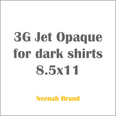 3G Jet Opaque for dark shirts 8.5x11