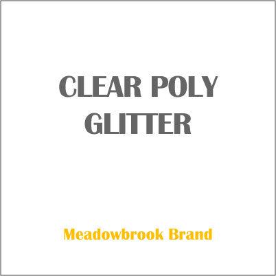 GLITTER CLEAR POLY